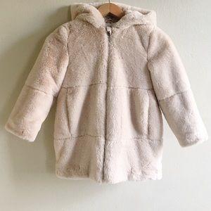 Zara Faux Fur Hooded Coat